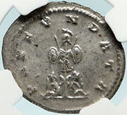 Gallienus Genuine Ancient 264ad Antioch Roman Coin Trophy Captives Ngc Ms I84420