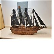 Wooden Pirate Ship Model Toy Retro Sailing Boat Collectible Crafts Men Gift