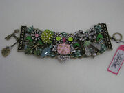 Betsey Johnson Vintage Critters Owl Wide Toggle Bracelet Nwt 145 Authentic