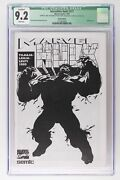 Incredible Hulk 377 - Marvel 1995 Cgc 9.2 - Finnish Variant - Sketch Cover.