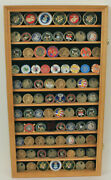 Large Challenge Coin Display Case Cabinet Pin Medal Real Glass Coin2-oa
