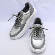 Pre-owned Authentic Louis Vuitton Men's Sneakers White Gray Silver 7 26.0cm