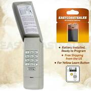 For Liftmaster 877lm Wireless Garage Door Keyless Entry Keypad Yellow Learn