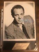 Louis Hayward Signed Autographed Card + Vintage Press Release Photo Golden Age