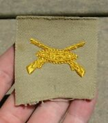 Pre-ww2 Us Army Military Armored Infantry Collar Insignia Patch