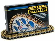 Renthal R1 Works Gold Chain 415 / 420 / 428 / 520 A Non O-ring Chain