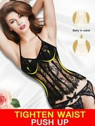Female Erotic Slimming Body Shaper Lingerie Style Corsets Hollow Out Lace Decors