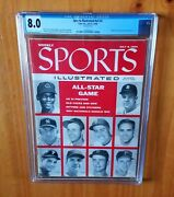 Sports Illustrated 1956 Mantle All Star Newsstand Cgc 8.0 2nd Cover Newsstand