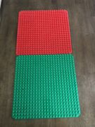 Lego Duplo Large Base Board Green Plate 15in 24x24 Peg Some Scratches/wear