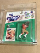 1988 Kenner Starting Lineup Figure Jerry Rice Rookie Afa Graded 80 Rare