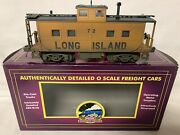 ✅pro Weathered Mth Premier Long Island Lighted Steel Caboose 20-91356 O Scale
