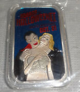 Halloween Dracula Vampire I Want To Suck Your Blood Woman 1oz Silver .999 Bar