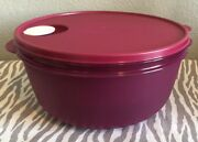 Tupperware Large Crystalwave Microwave Container 4qt W/ Colander Fuchsia New