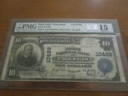 Large Size Wisconsin National Currency 10 Note 1st Nb Park Falls Pmg 15