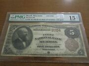 Large Size Wisconsin National Currency 5 Note 1st Nb Merrill Pmg 15 Net