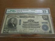 Large Size Wisconsin National Currency 20 Note 1st Nb Dodgeville Pmg 25