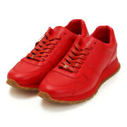 Pre-owned Authentic Louis Vuitton Men's Sneakers Leather Red 8 1/2 27.5 Cm