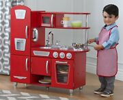Kitchen Play Vintage Toy Set Pretend Child Plastic Stove Toddler Cooking Playset
