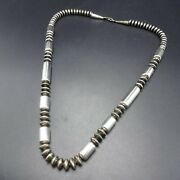 Sterling Silver Navajo Pearls 24 Necklace Saucer Beads And Barrel Beads 72.4g