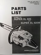 Homelite Super Xl 925 Chain Saw Parts Catalog Manual 2-cycle Gasoline Chainsaw