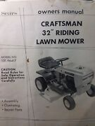 Sears 32 Craftsman 7hp Riding Lawn Tractor Mower Owner And Parts Manual 131.96417