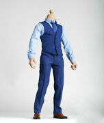 1/6 Mens Blue Business Suit Outfit Set For 12andrdquohot Toys Phicen Male Action Figure