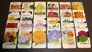 30 Diff Vintage Seed Packet Lot 1930s-1970 Flowers Garden Texas General Store A1