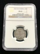 British West Indies 1/8 Dollar, Ngc Proof 63, Scarce Choice Unc Grade, Silver
