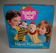 Romper Room Hand Puppets Mr Do Bee And Happy Jack For Childrens Hands Nib Vintage