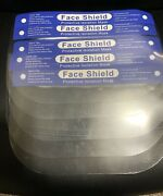 New Pack Of 10 Safety Full Face Shield Clear Protector - Fast Shipping