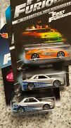 Hot Wheels Fast And Furious Supra And Skyline From First Release And Second One.