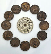 Neil Eyre Designs Zodiac 12 Birth Signs Astrology Sign Wheel Life Coin Magnet