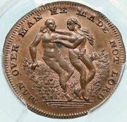 1790 England Uk Middlesex Spenceand039s Adam And Eve King Bull Conder Token Pcgs I84004