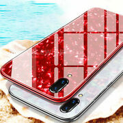 Tempered Glass Sparkly Shell Hybrid Case Cover For Iphone Xs Max X Xr 7 8 Puls