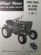 Wheel Horse 867 Riding Lawn Garden Six Speed Tractor Owner And Parts Manual
