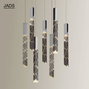 Hot Cube Crystal Cylinder Chandelier Lobby Stair Drops Light Island Ceiling Lamp