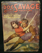 Doc Savage Pulp Magazine - The Metal Master 80 Page Novel Fine March 1936