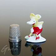 Antique German Miniature Mickey Mouse 1.5 Bisque Cake Topper Figurine Germany
