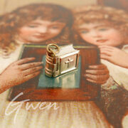 Antique Miniature 9k Gold Filled Doll Book Charm Pendant The Lord's Prayer Bible