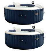 Intex Purespa 4 Person Home Inflatable Heated Bubble Round Hot Tub 2 Pack