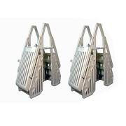 Vinyl Works In Step 48-56 Above Ground Swimming Pool Ladder, Taupe 2 Pack