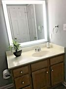 Rectangular Front Lighted Led Vanity Mirror - 36w X 72t -wall Mount