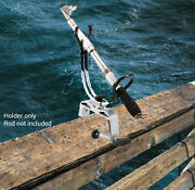 Heavy Duty Fishing Pole Rod Holder With Universal Clamp-on Boat Deck Mount