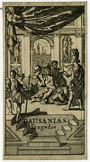 Antique Print-frontispiece-classical History-tragedy-pausanias-quinault-ca. 1700