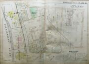 Original 1889 Pittsburgh Pa Linden And Copper Works Station Forbes-bates Atlas Map