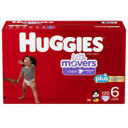 Huggies Little Movers Baby Diapers Size 6 35lbs And Up 116 Count Cws