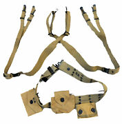 Wwii M1912 Belt M1936 Suspenders M1942 First Aid Kit Compass M1 Ammo Pouch Set