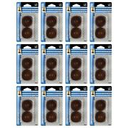Shepherd Hardware 9075 Rubber Leg Cups 4ct For Furniture Feet Casters Brown 12pk