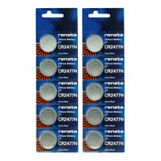 10pk Renata Coin Cell Battery Cr2477 Lithium Replaces Dl2477, Cr2477