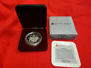 1994 Canadian 1 Dollar Silver Proof Last Royal Canadian Mounted Dog Sled Coin